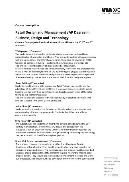 Retail Design And Management Ap Degree In Business Design