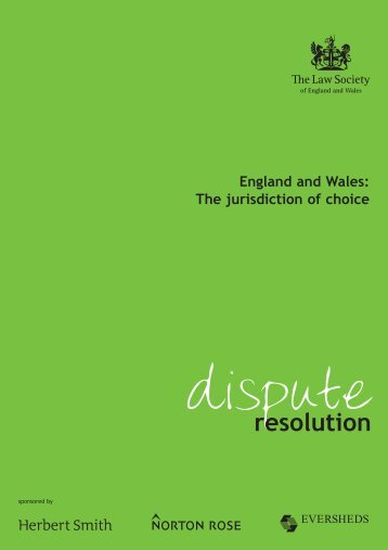 England and Wales: The jurisdiction of choice