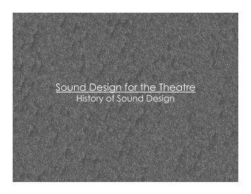History of Sound Design
