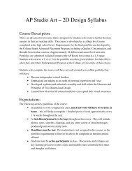 AP Studio Art – 2D Design Syllabus - Steinbrenner High School