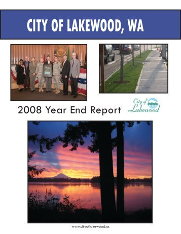 2008 Year End Report - City of Lakewood