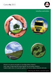 Carbon membership form 2012 - Freight Transport Association