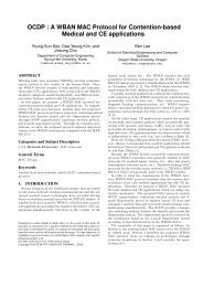OCDP : A WBAN MAC Protocol for Contention-based Medical and ...