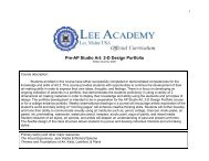 Pre-AP Studio Art: 2-D Design Portfolio - Lee Academy