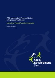 IPPF Independent Progress Review, Ethiopia Country Report