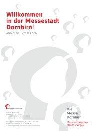 Willkommen in der Messestadt Dornbirn!