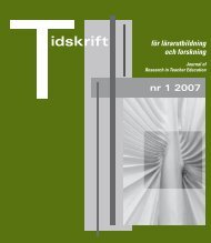 Tidskrift för lärarutbildning och forskning 1/2007