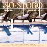 Stobo Newsletter April 2005 - Stobo Castle Health Spa