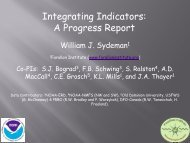 Integrating Indicators: A Progress Report
