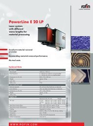 PowerLine E 20 LP pdf - Rofin