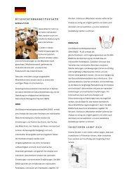 Flyer Arbeitsplatzanalyse - Arets Ergonomie
