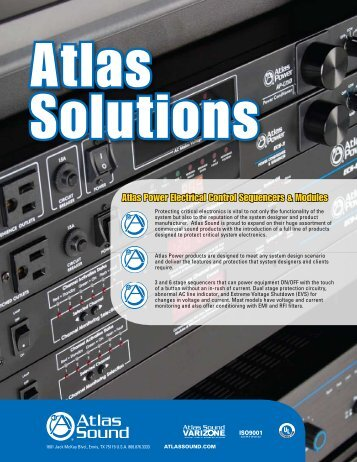 2011 Atlas Power Brochure - Atlas Sound
