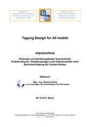 Tagung Design for All mobile Impulsreferat Potenzial und - Stufenlos