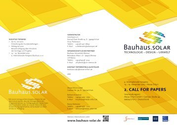 2. Call for Papers - Bauhaus.solar