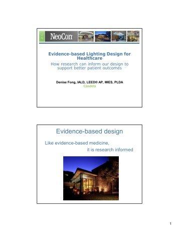 Evidence-based Lighting Design for Healthcare - Candela