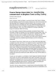 Naples Daily News July 29, 2012 - Ficarra Design Associates