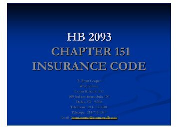 HB 2093 - Chapter 15.. - Cooper & Scully, PC