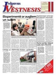 2008. gada 1.maijs. Nr.18(50) - Jelgavas Vēstnesis