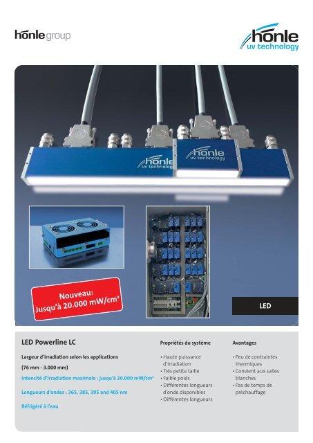 Information sur le produit LED Powerline LC - Dr. Hönle AG