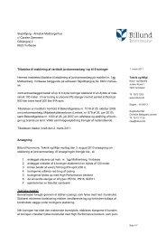 Tilladelse til etablering af et vertikalt ... - Billund Kommune