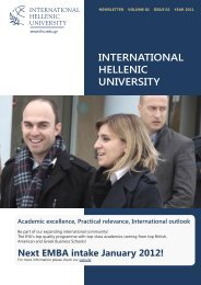 Volume 1, Issue 2 - December 2011 - International Hellenic University