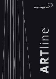 Informationen zur ARTline - Würth Solar
