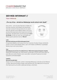 Web-Design im Detail (pdf) - Charismarcom
