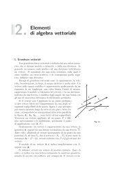 2. Elementi di algebra vettoriale
