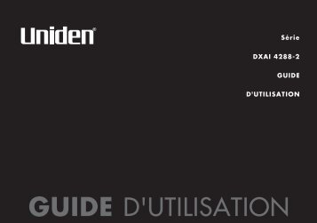GUIDE D'UTILISATION