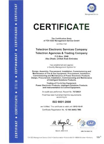 ISO 9001 Certified - Telectron