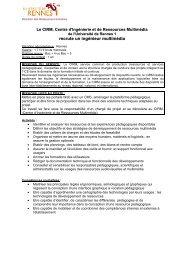 CIRM - Ingénieur multimedia - Université de Rennes 1