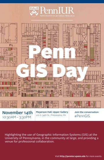 November 14th - Penn Institute for Urban Research - University of ...