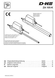 ZA 105-K - D+H Mechatronic
