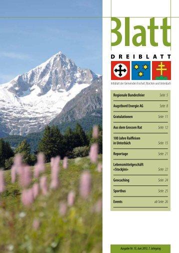 Ausgabe Juni 2013 - Unterbäch Tourismus