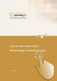 Mobile Design & Usability für Apps - insertEFFECT