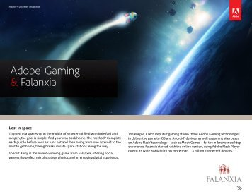 Adobe Gaming technologies enable us to create more visually ...