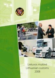 Lietuvos muitinė Lithuanian customs 2008 - Lietuvos Respublikos ...