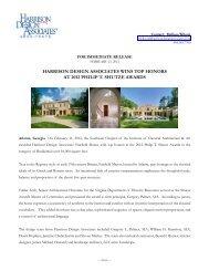 information about the award - Harrison Design Associates