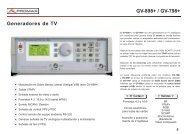 Generadores de TV - GV-898+ / GV-798+ - Promax
