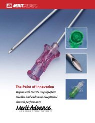The Point of Innovation - Merit Medical