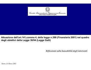 Attuazione dell'art.141,comma 4, della legge n.388 ... - UTFP