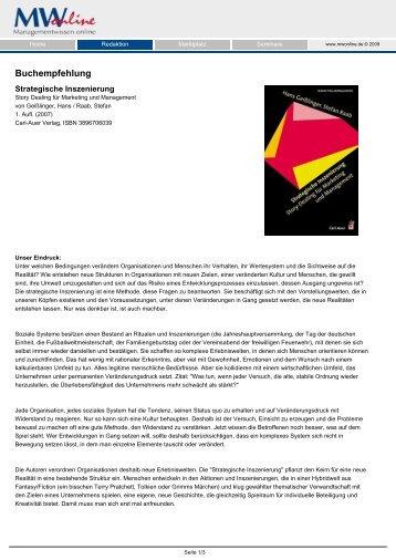 Buchempfehlung - story dealer berlin