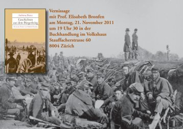 Vernissage mit Prof. Elisabeth Bronfen am Montag, 21. November ...
