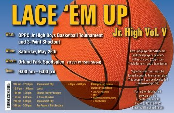 Lace 'em Up Jr. High Vol. V - The Prayer Center of Orland Park