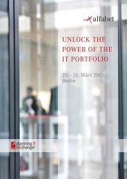 UNLOCK THE POWER OF THE IT PORTFOLIO - Alfabet