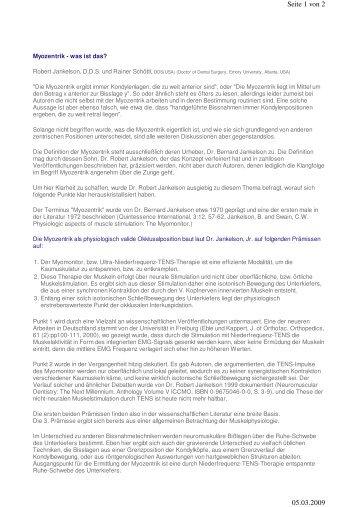 Seite 1 von 2 05.03.2009 - Dr. Michael Pampel
