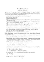 Exam III Review Sheet