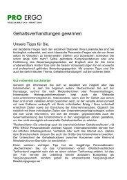PRO ERGO GmbH Personalberatung+Vermittlung
