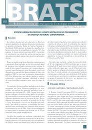Stents farmacológicos e stents metálicos no tratamento da doença ...