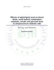 Effects of alpha lipoic acid on blood lipids, renal indices, antioxidant ...